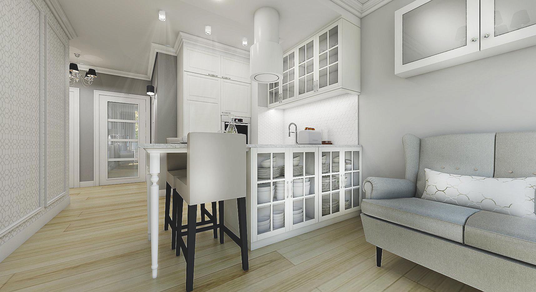 Mieszkanie W Stylu Angielskim Nefa Architekci Studio Projektowe